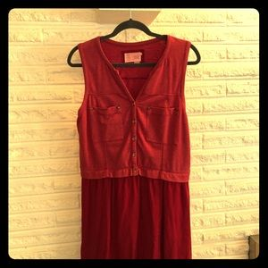 Anthropologie casual red/burgundy colored dress